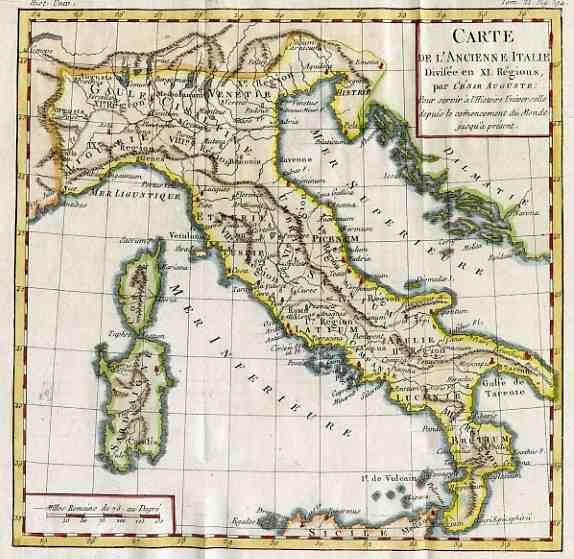 Carte Italie Ancienne.Italy Carte De L Ancienne Italie Michael Jennings Antique