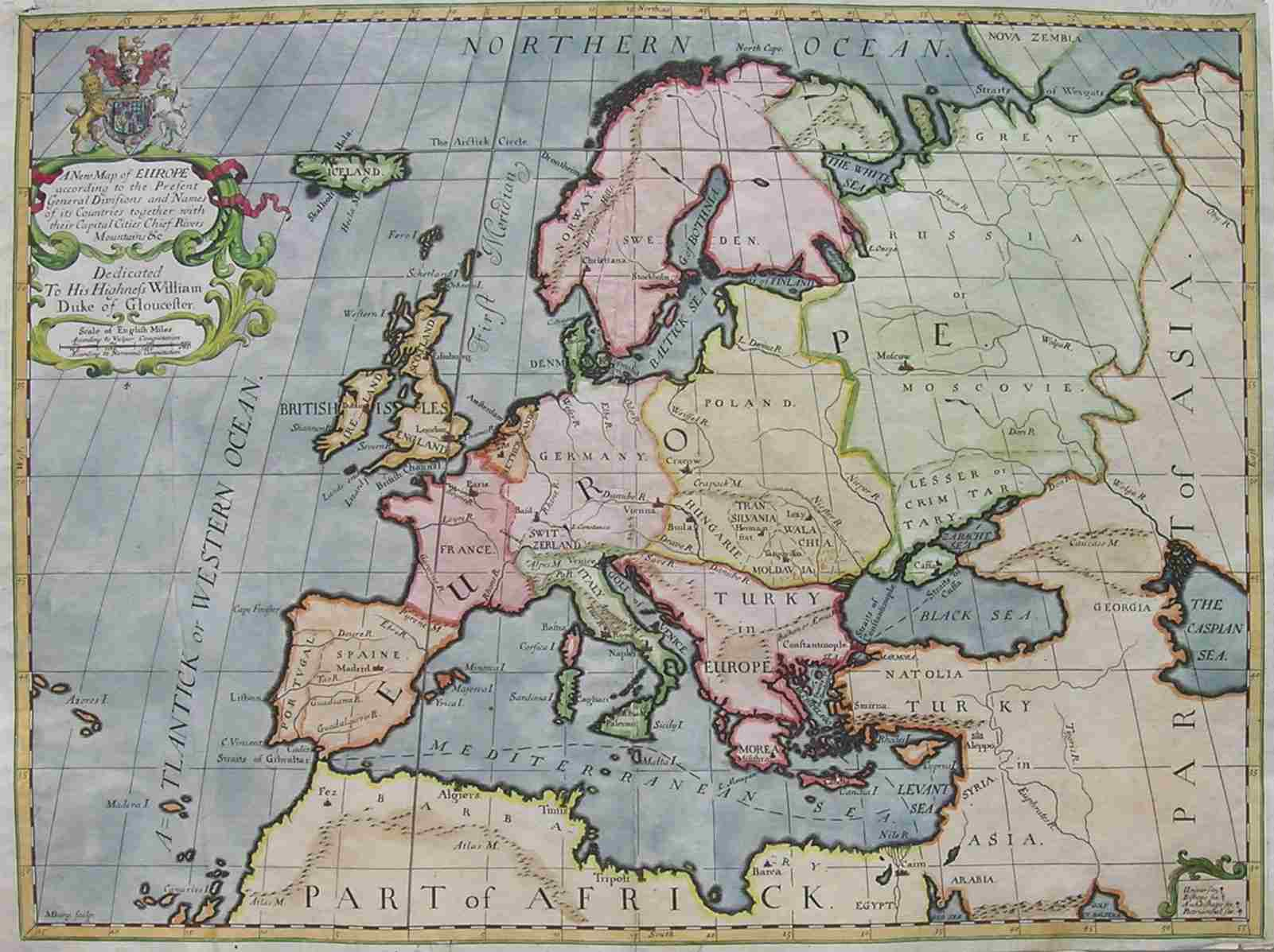 Antique maps of Europe Continent at maphouse by Michael Jennings