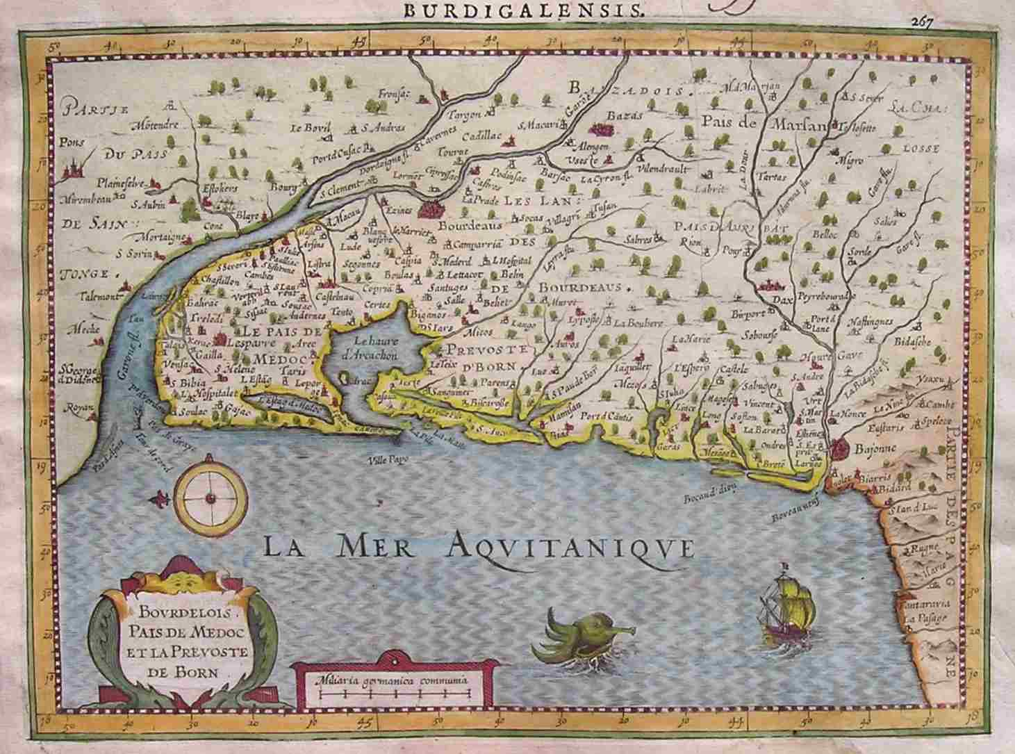bordeaux map print