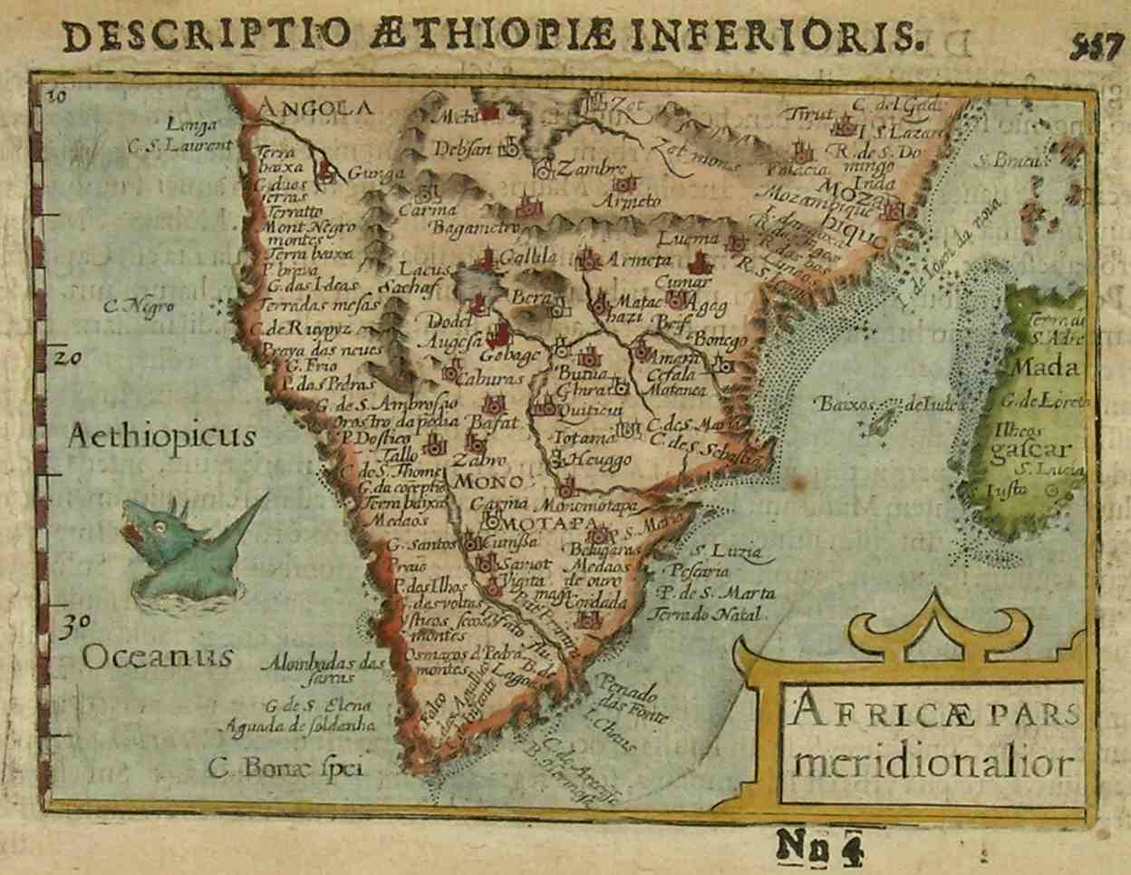 South Africa Africae Pars Meridionalior Michael Jennings Antique