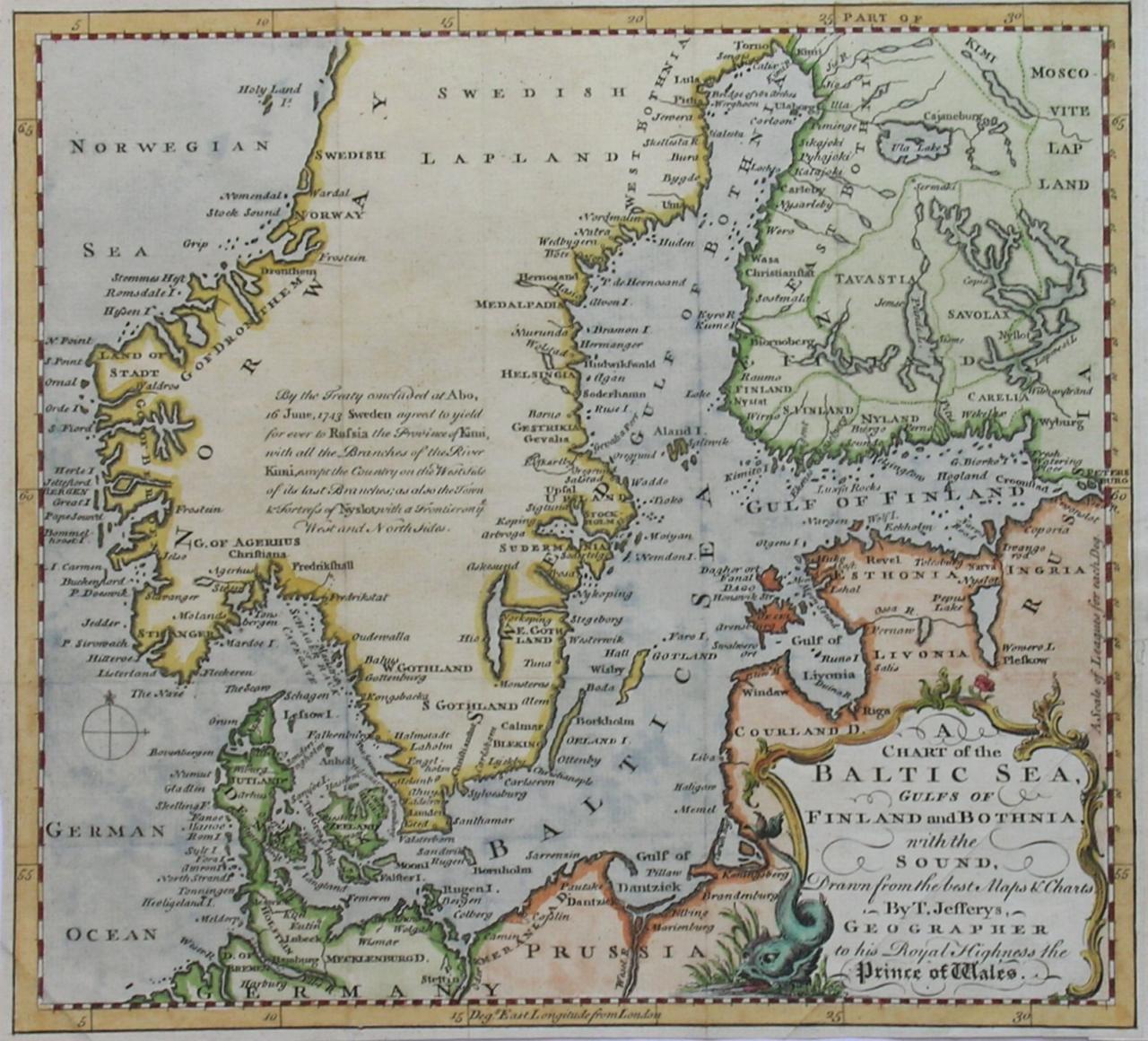BALTIC SEA A CHART OF THE BALTIC SEA || Michael Jennings Antique ...