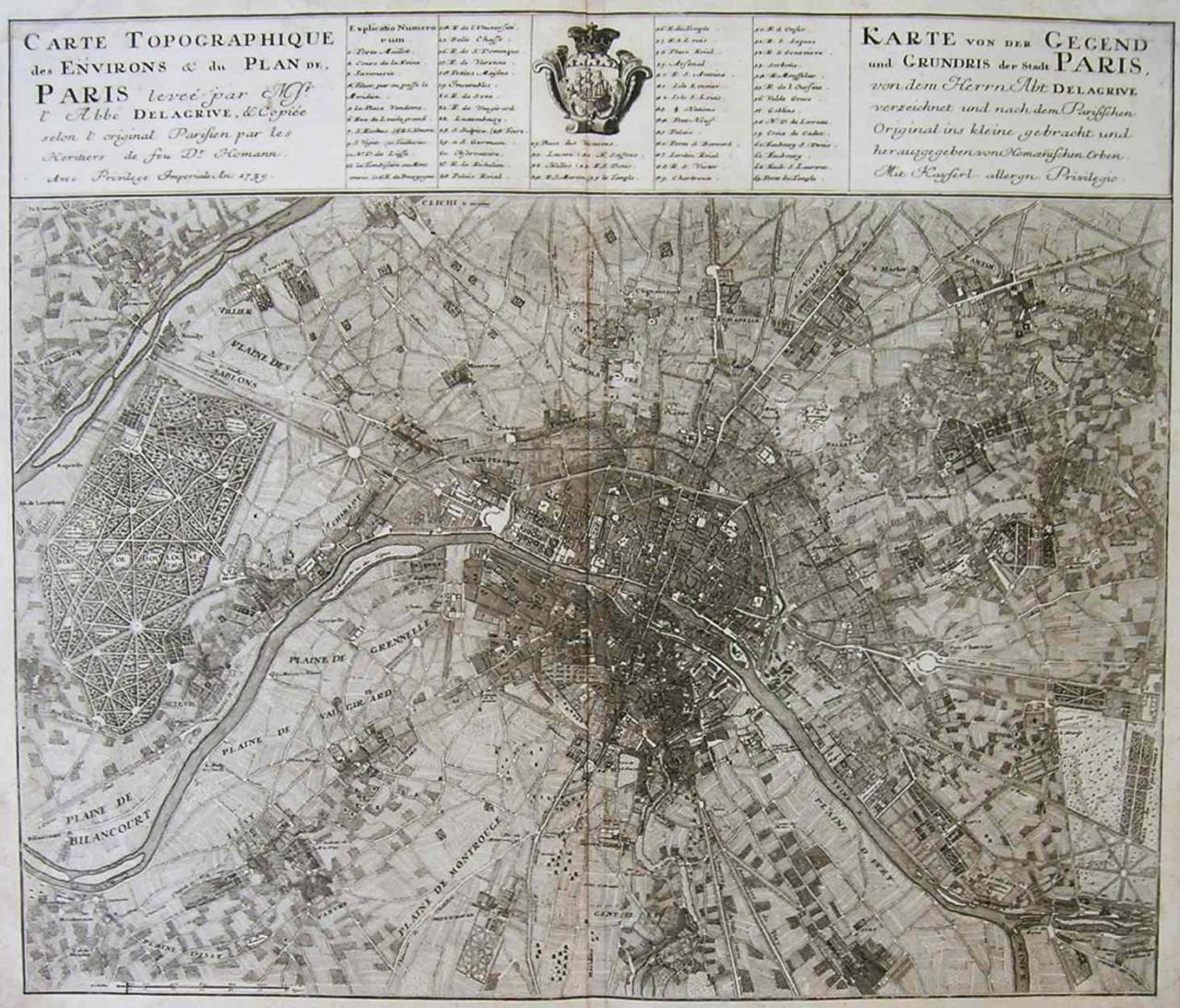 Karte Paris.Paris Carte Topographique Des Environs Du Plan De Paris Michael