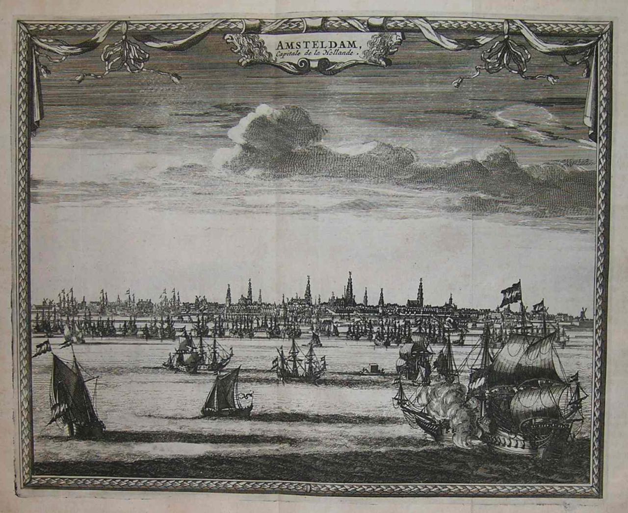 AMSTERDAM AMSTELDAM CAPITALE DE LA HOLLANDE Michael Jennings - Antique maps amsterdam