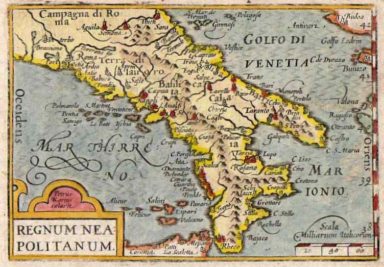 Map Of South Of Italy.Southern Italy Regnum Neapolitanum Michael Jennings Antique Maps