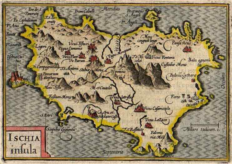 Ischia Ischia Insula Michael Jennings Antique Maps And Prints
