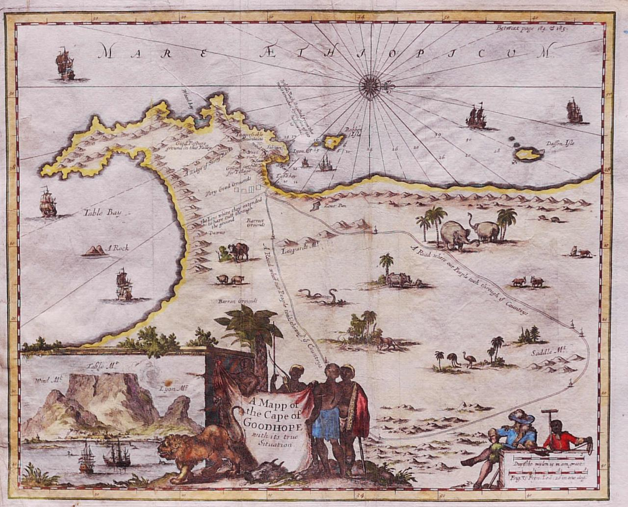A MAP OF THE CAPE OF GOOD HOPE WITH ITS TRUE SITUATION || Michael ...