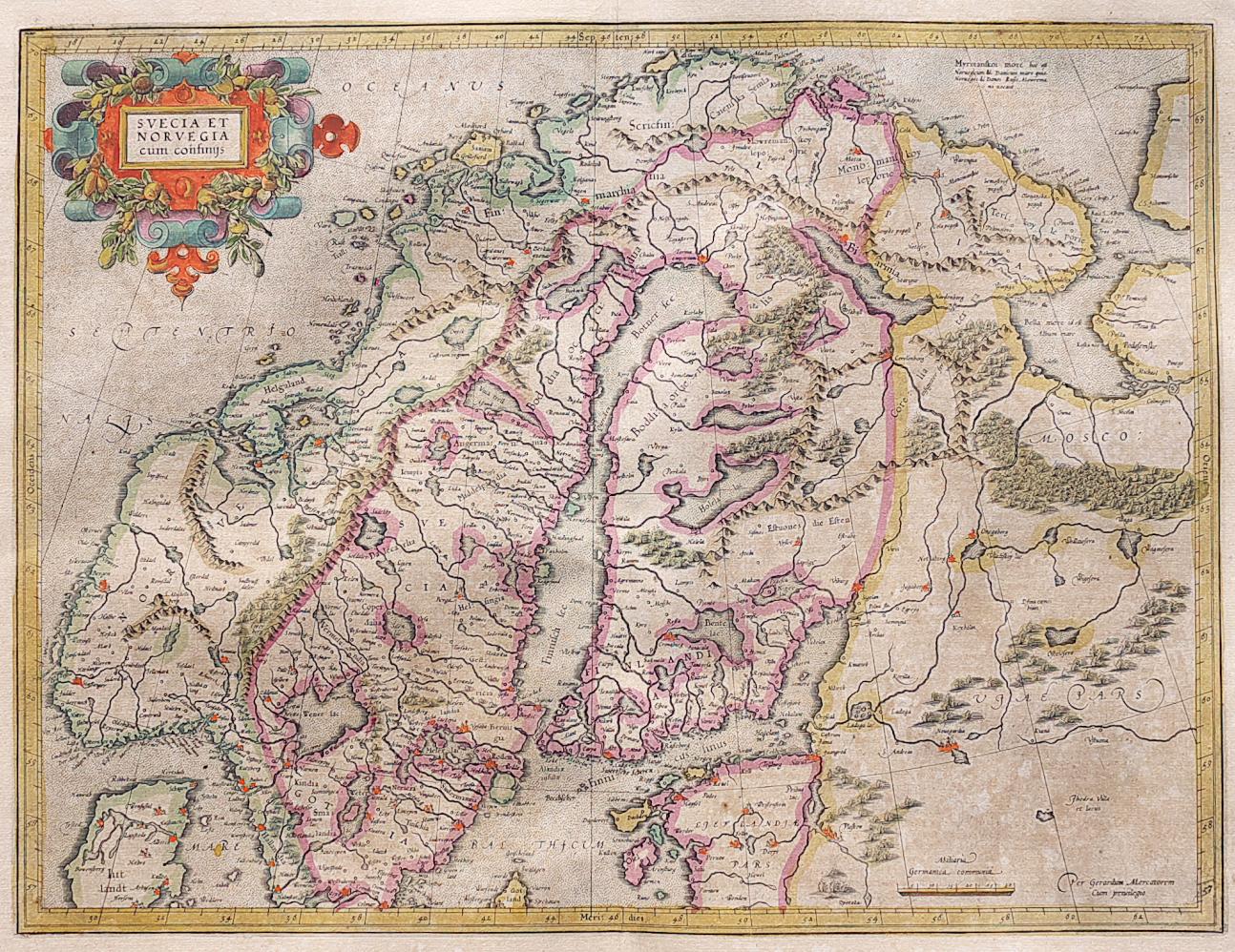 MERCATOR\'S MAP OF SCANDINAVIA    Michael Jennings Antique Maps and ...