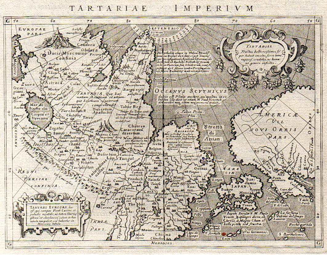 UNCOMMON MAP OF TARTARY JAPAN AND EARLY WEST COAST OF AMERICA ...