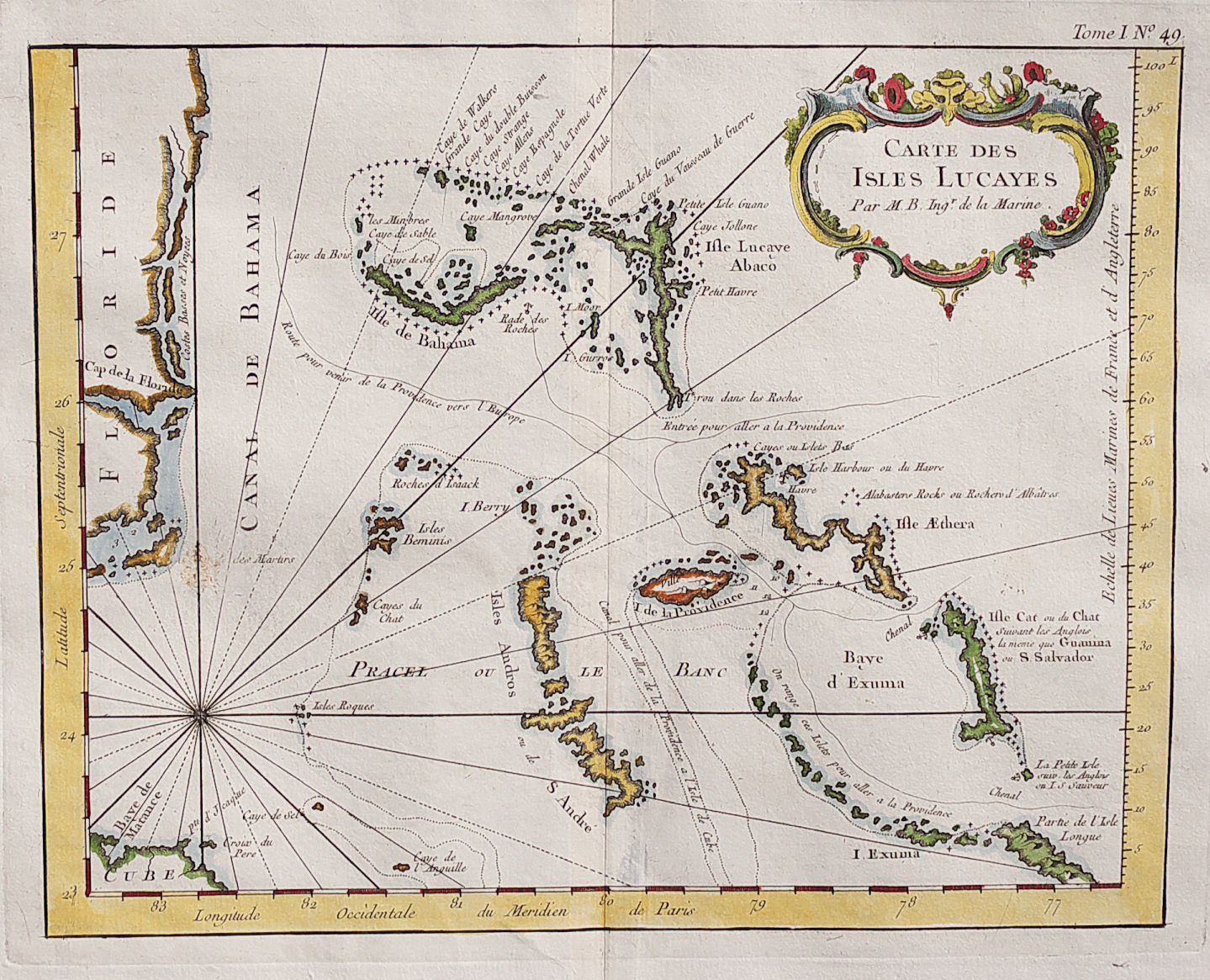 Map Of Florida And Bahamas.Rare Map Of The Bahamas And East Coast Of Florida Michael