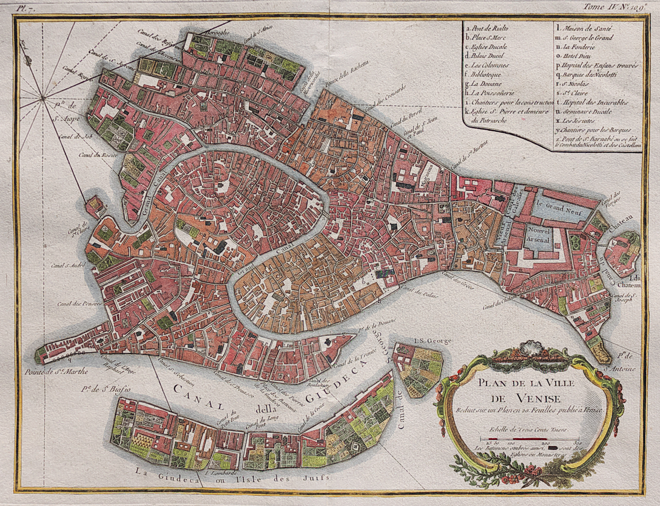 RARE PLAN OF VENICE || Michael Jennings Antique Maps and ...