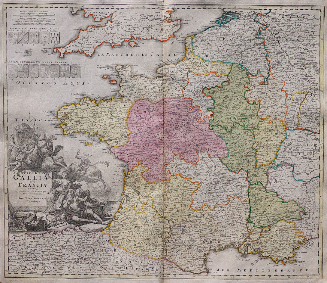 Apt France Map.Homann S Folio Map Of France Michael Jennings Antique Maps And Prints