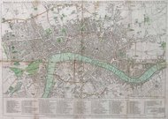 LONDON MAP BOWLES REDUCED NEW POCKET PLAN OF THE CITIES OF LONDON AND WESTMINSTER,WITH THE BOROUGH OF SOUTHWARK,EXHIBITING THE NEW BUILDINGS TO THE YEAR 1794