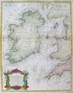 IRELAND SEA CHART A CORRECT CHART OF ST GEORGE'S CHANNEL AND THE IRISH SEA