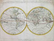 SANSON'S ANTIQUE MAP OF THE WORLD