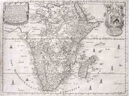 SOUTH AFRICA A MAPP OF THE HIGHER AND LOWER AETHIOPIA