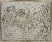RUSSIA AN ACCURATE MAP OF THE RUSSIAN EMPIRE BOTH IN EUROPE AND ASIA
