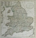 ENGLAND AN ACCURATE MAP OF ENGLAND AND WALES WITH THE PRINCIPAL ROADS FROM THE BEST AUTHORITIES