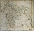 INDIA BURMA AN ACCURATE MAP OF HINDOSTAN OR INDIA FROM THE BEST AUTHORITIES