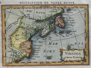 NORTH AMERICA EAST COAST VIRGINIA ET NOVA FRANCIA