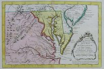 VIRGINIA CARTE DE LA VIRGINIE ET MARYLAND OU DE LA BAIE DE CHESAPEACK
