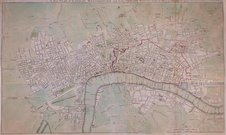 LONDON A NEW PLAN OF LONDON WESTMINSTER AND SOUTHWARK ENGRAVED FOR NOORTHOUCKS HISTORY OF LONDON 1772