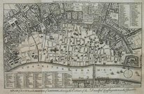 LONDON A PLAN OF THE CITIES AND LIBERTIES OF LONDON SHEWING THE EXTENT OF THE DREADFUL CONFLAGRATION IN THE YEAR 1666
