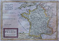 FRANCE A NEW MAP OF FRANCE ACCORDING TO THE NEWEST OBSERVATIONS