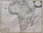 AFRICA   MINT CONDITION EXAMPLE OF VAUGONDY'S MAP