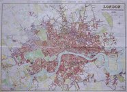 LARGE LONDON  WALL MAP