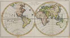 WORLD MAP 1750