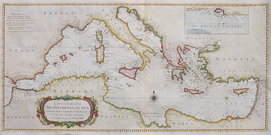 THE MEDITERRANEAN SEA   UNCOMMON ON ONE SHEET