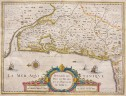 JANSSONIUS' MAP OF BORDEAUX BAYONNE BIARRITZ   WINE AREAS MEDOC ETC