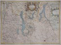 MAGINI'S RARE MAP OF MILAN & THE LAKES
