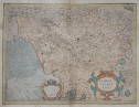 MAGINI'S RARE MAP OF TUSCANY AND  FLORENCE REGION
