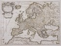 EUROPE RARE MAP BY ROSSI AFTER SANSON