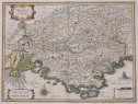 PROVENCE   HONDIUS' DECORATIVE MAP