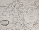 MERCATORS PTOLOMAIC MAP OF THE BRITISH ISLES