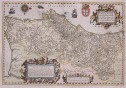 HONDIUS DOETECOMIUS FOLIO MAP OF PORTUGAL