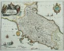 MERIAN'S DECORATIVE MAP OF TUSCANY