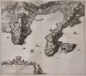 BLAEU  OTTENS RARE PLAN VIEW OF VILLEFRANCHE