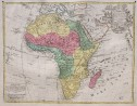 LOTTER'S  FOLIO MAP OF AFRICA ..ORIGINAL COLOUR