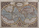 LANGENES  HONDIUS WORLD MAP