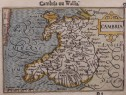 WALES  LANGENES MAP OF CAMBRIA   OU WALLIA