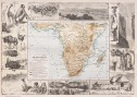 DECORATIVE MAP OF SOUTHERN AFRICA WITH SURROUNDING VIGNETTES