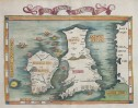 WALDSEEMULLER   FRIES 1525 MODERN MAP OF BRITISH ISLES
