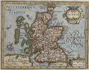 MERCATOR HONDIUS MAP OF SCOTLAND FROM ATLAS MINOR