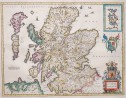 JANSSONIUS ORIGINAL COLOUR MAP OF SCOTLAND