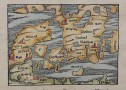 MUNSTER'S EARLY MAP OF DENMARK AND SOUTH SWEDEN