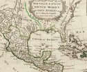 ANTIQUE MAP OF FLORIDA, NEW MEXICO &  CENTRAL AMERICA  BY VAUGONDY