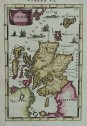 MALLET'S MAP OF SCOTLAND FIRST EDITION 1683